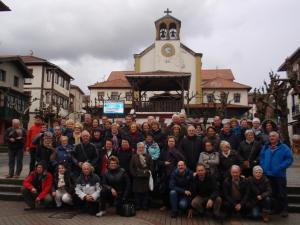 El grupo en La Arboleda